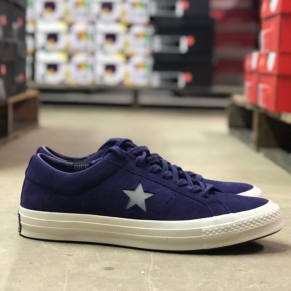CONVERSE ONE STAR OX CT ALL STAR SUEDE LOW MEN SHOES PURPLE 158475C SIZE 9 NEW